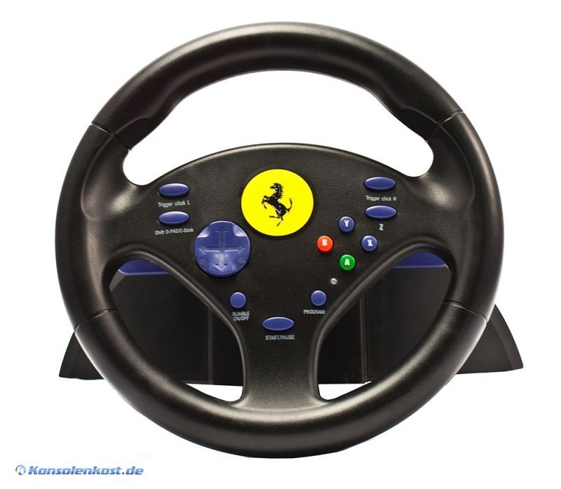 gamecube lenkrad racing steering wheel ferrari. Black Bedroom Furniture Sets. Home Design Ideas