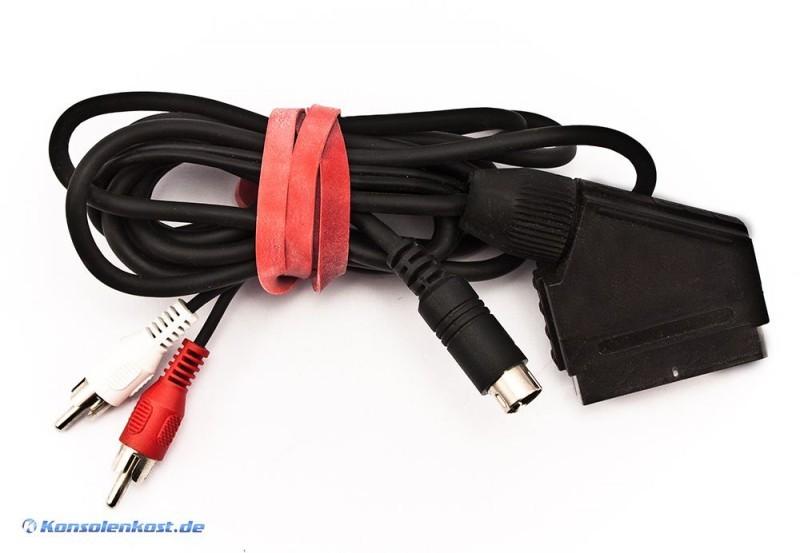 saturn rgb scart kabel mit cinch stereo out sega saturn zubeh r. Black Bedroom Furniture Sets. Home Design Ideas