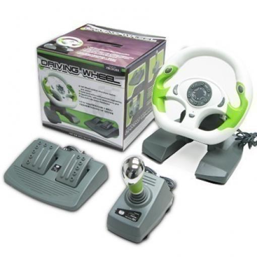 xbox 360 driving wheel lenkrad mit pedalen 9005127. Black Bedroom Furniture Sets. Home Design Ideas